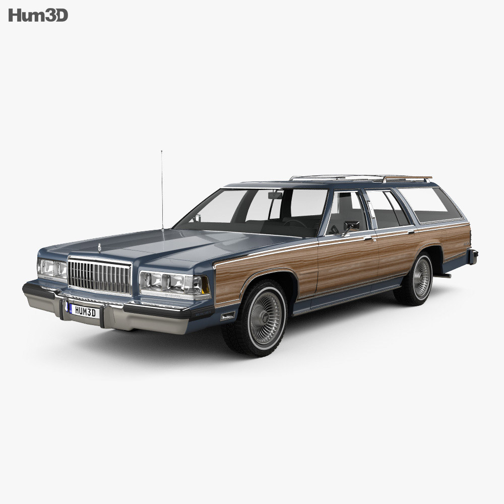 Mercury Grand Marquis Colony Park 1988 3d model