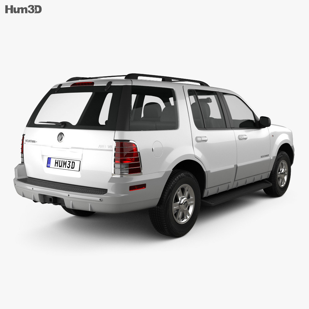 Mercury Mountaineer 2001 3d model