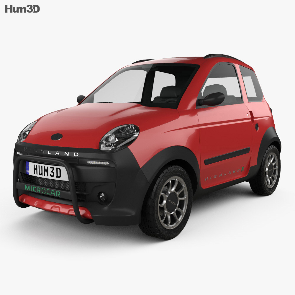 Microcar M.Go Highland X 2016 3d model