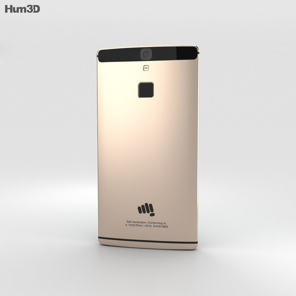 Micromax Canvas 6 Golden 3d model