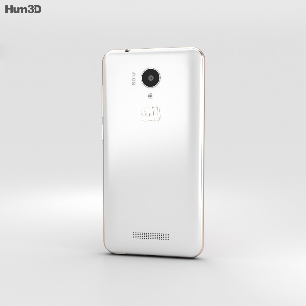 Micromax Canvas Spark White 3d model