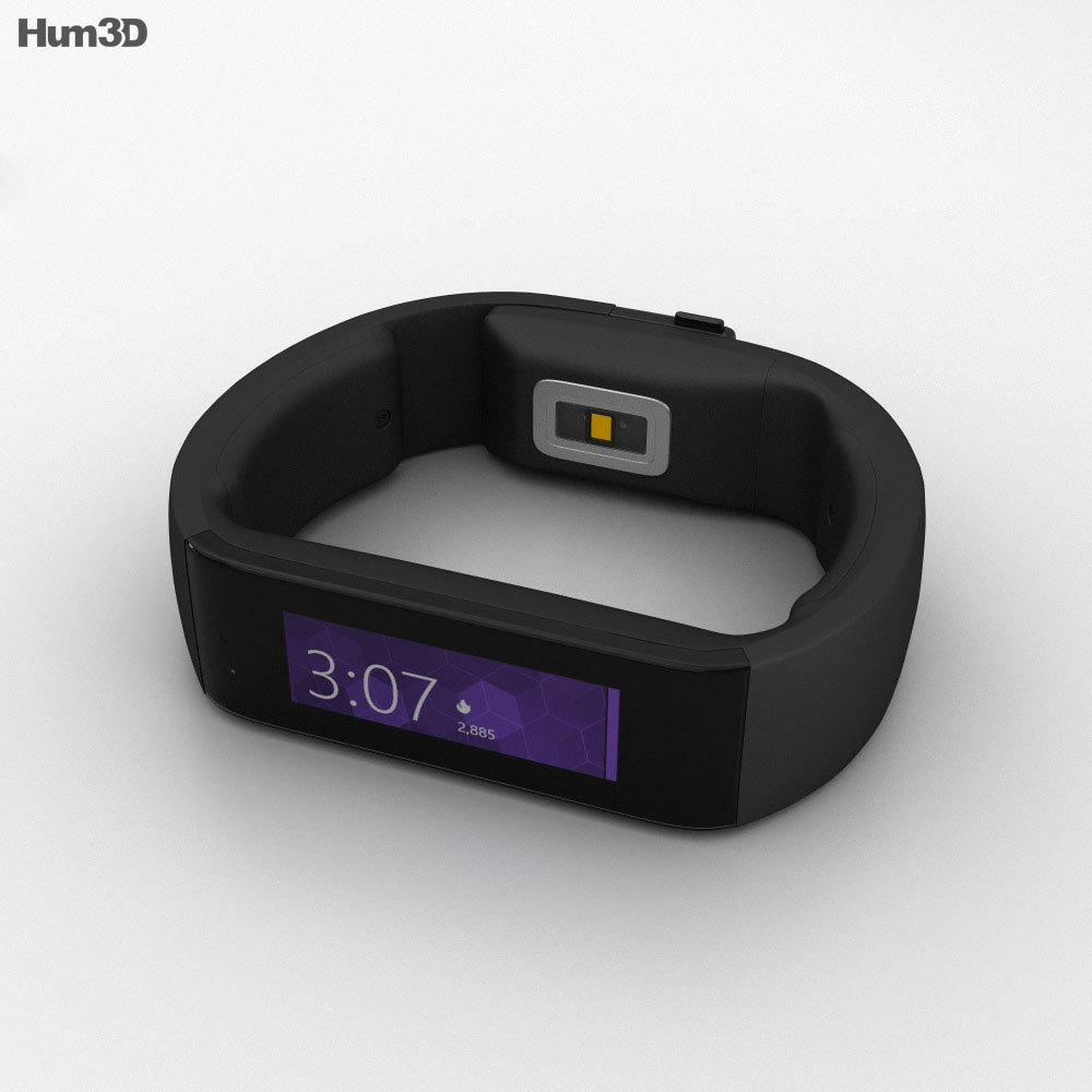 Microsoft Band Black 3d model