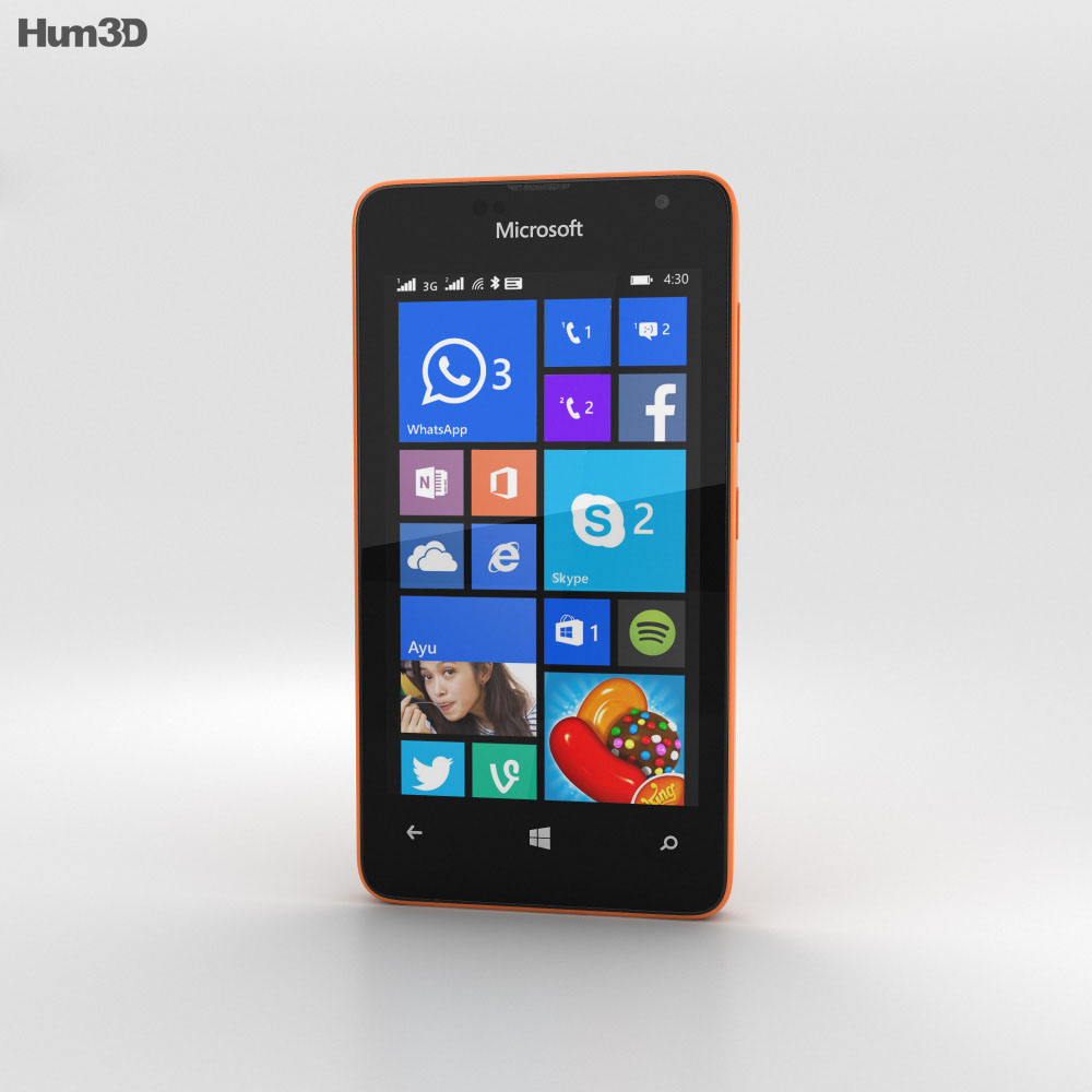 Microsoft Lumia 430 Orange 3d model
