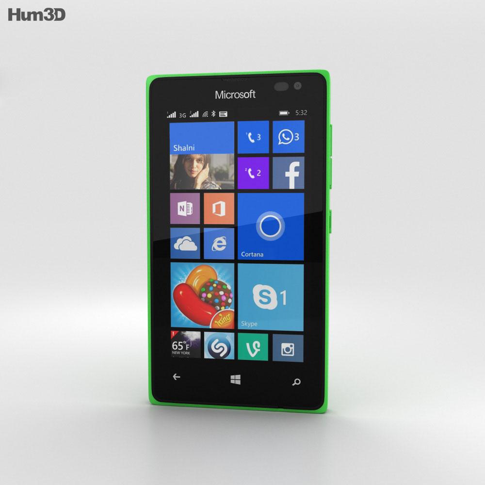 Microsoft Lumia 435 Green 3d model