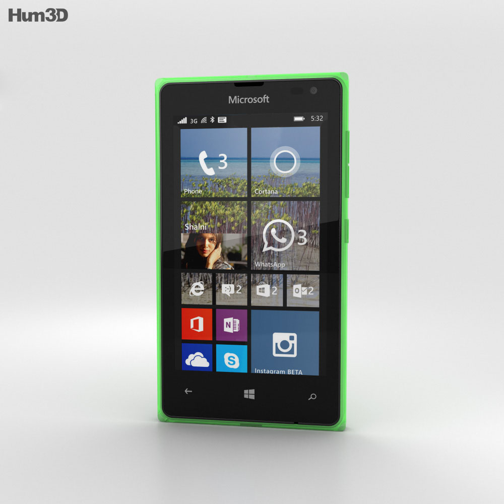Microsoft Lumia 532 Green 3d model