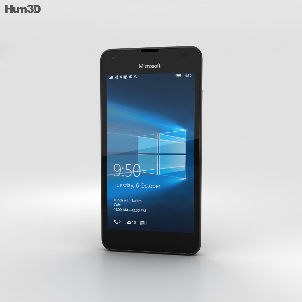 Microsoft Lumia 550 Black 3d model