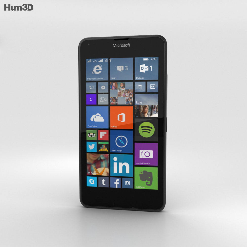 Microsoft Lumia 640 LTE Matte Black 3d model