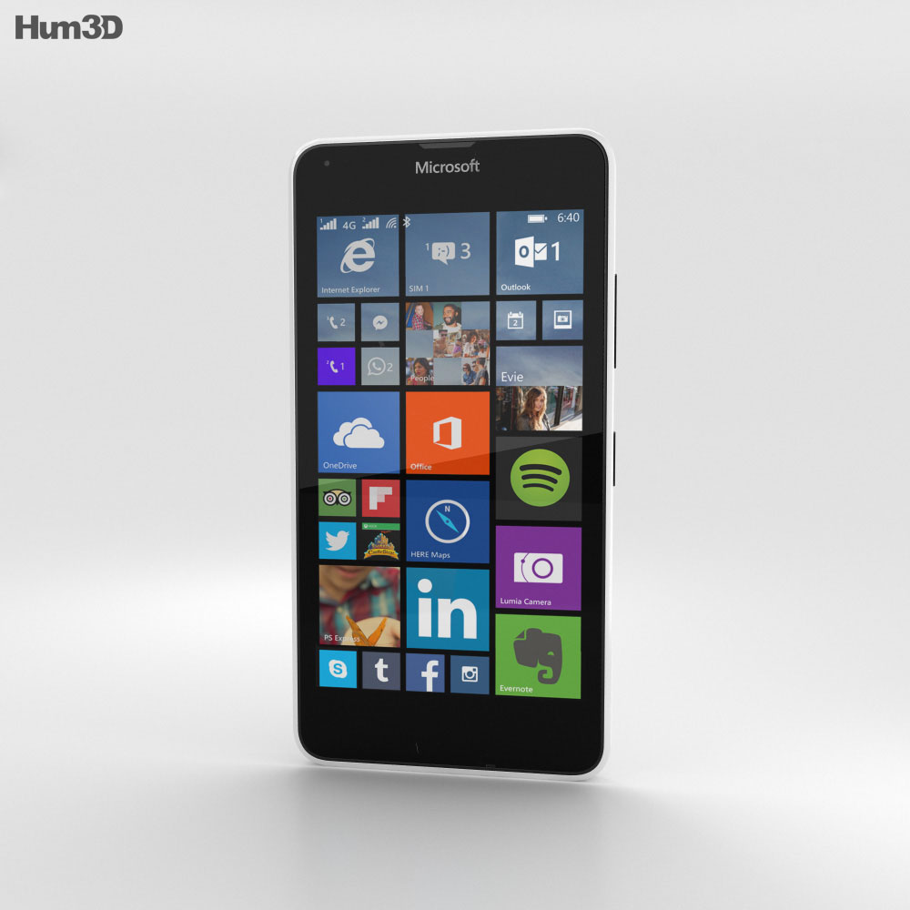 Microsoft Lumia 640 LTE White 3d model