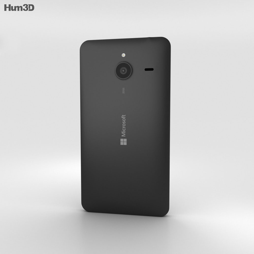 Microsoft Lumia 640 XL Black 3d model