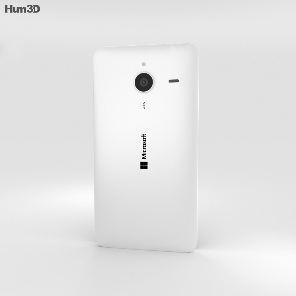 Microsoft Lumia 640 XL Matte White 3d model