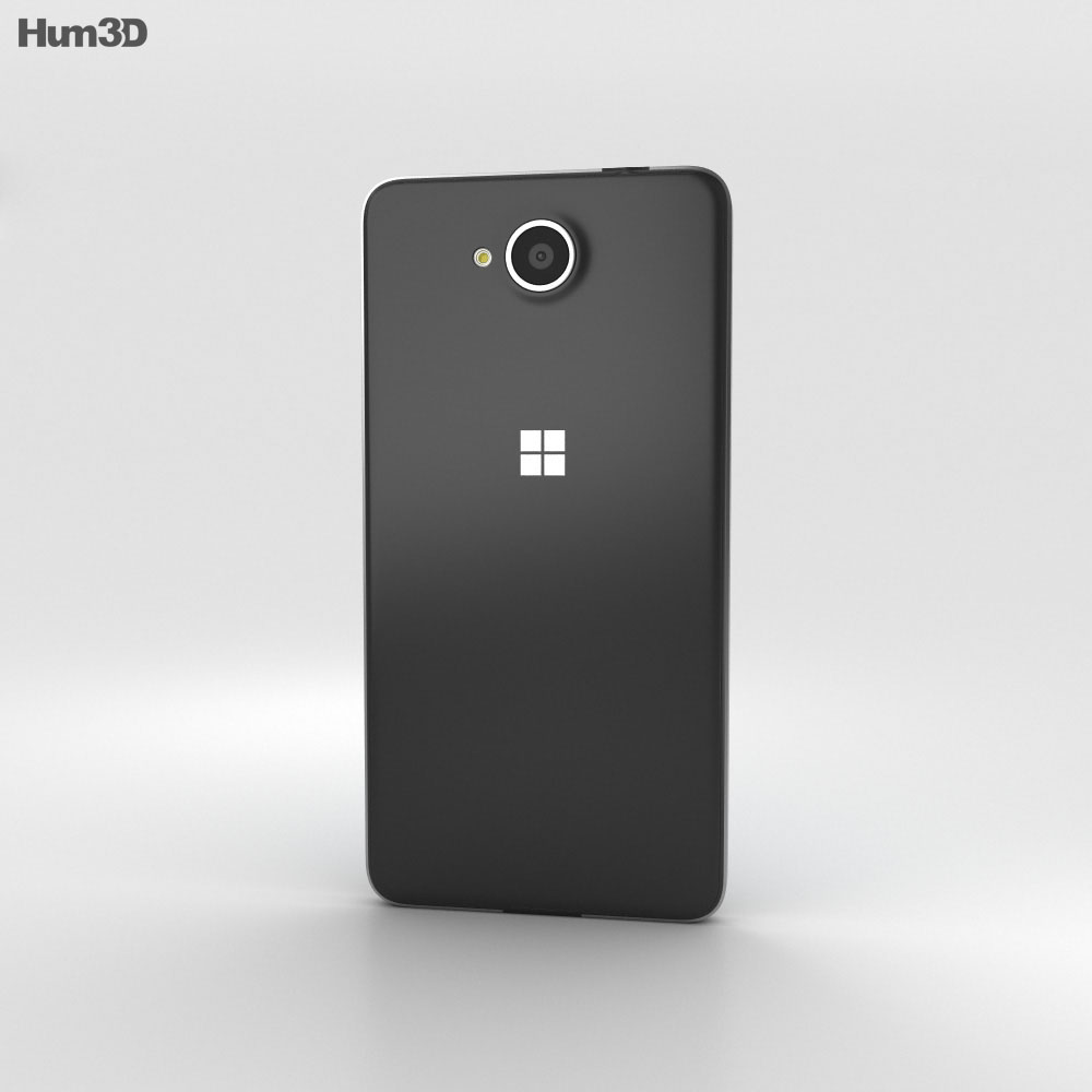 Microsoft Lumia 650 Black 3d Model Humster3d