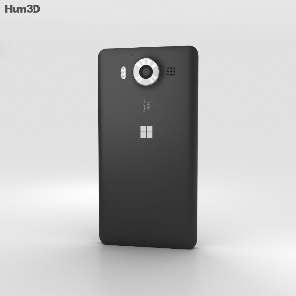 Microsoft Lumia 950 Black 3d model