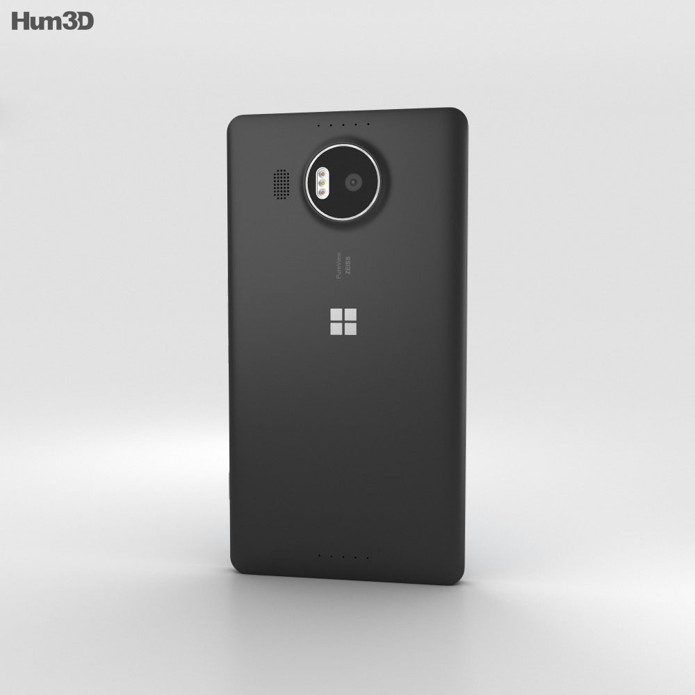 Microsoft Lumia 950 XL Black 3d model
