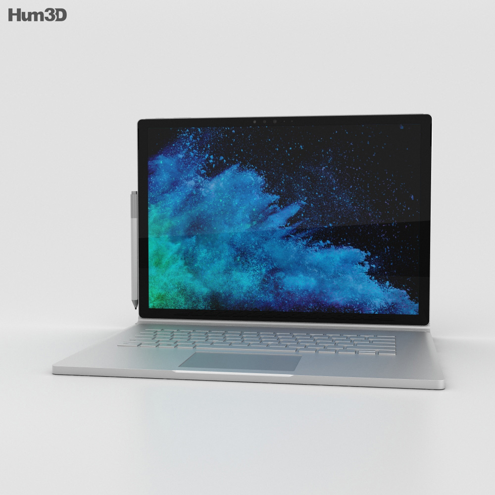 Microsoft Surface Book 2 15-inch 3d model