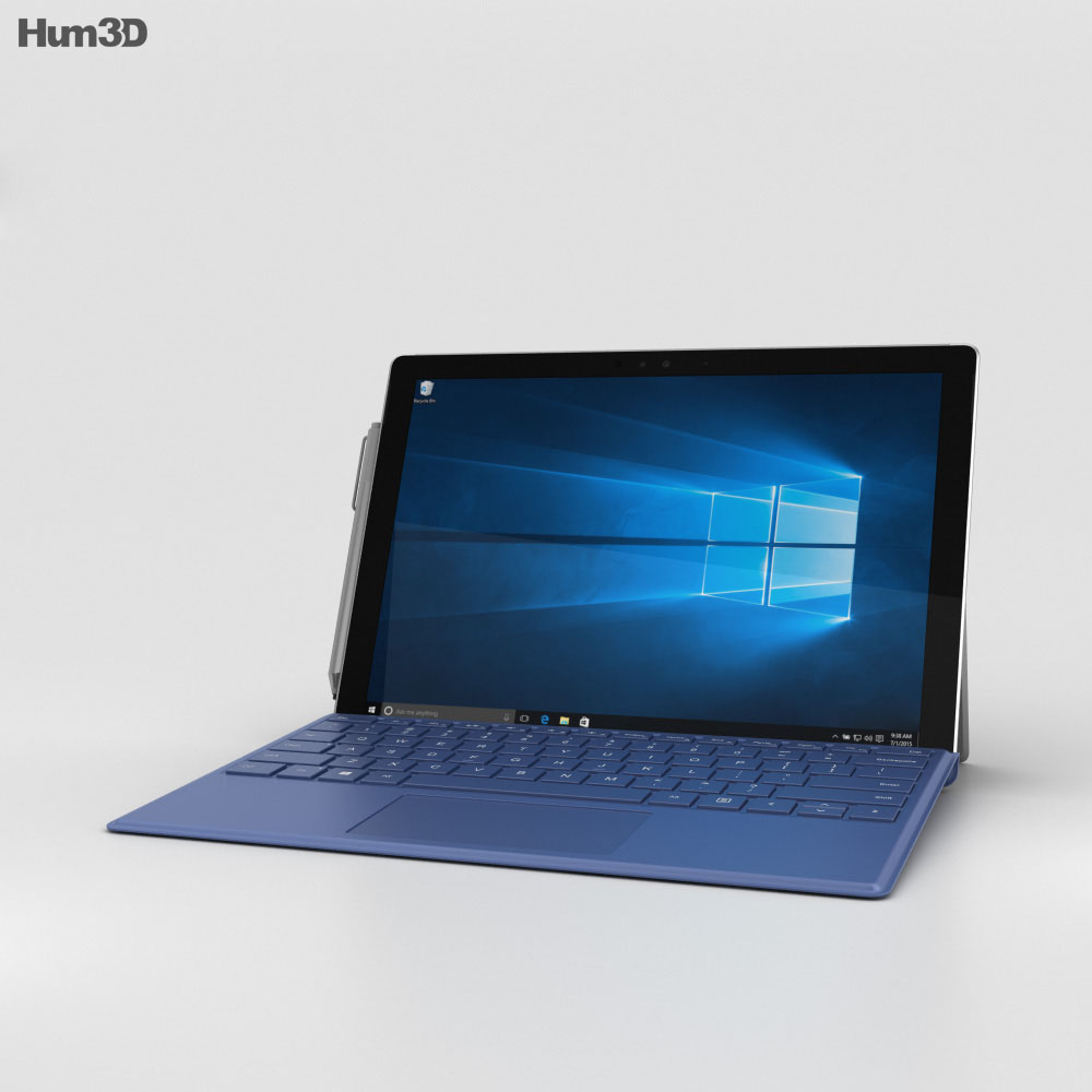 Microsoft Surface Pro 4 Blue 3d model