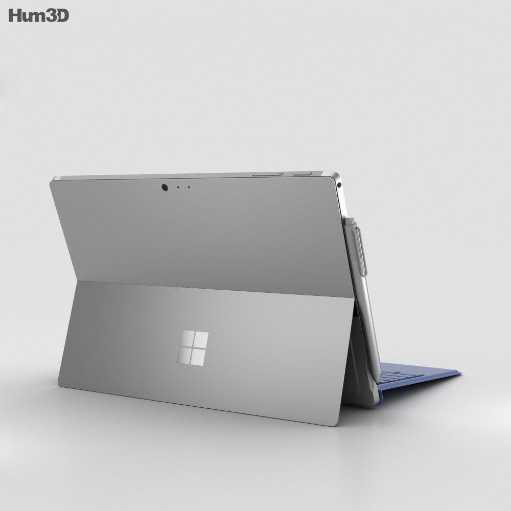 microsoft surface pro 4 blue 3d model hum3d. Black Bedroom Furniture Sets. Home Design Ideas