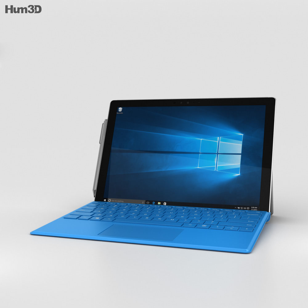 Microsoft Surface Pro 4 Bright Blue 3d model