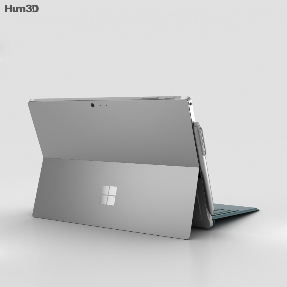 Microsoft Surface Pro 4 Teal 3d model