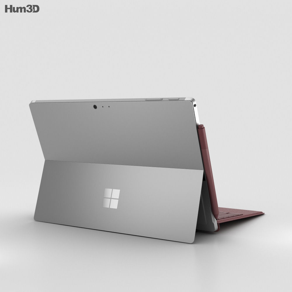 Microsoft Surface Pro (2017) Burgundy 3d model