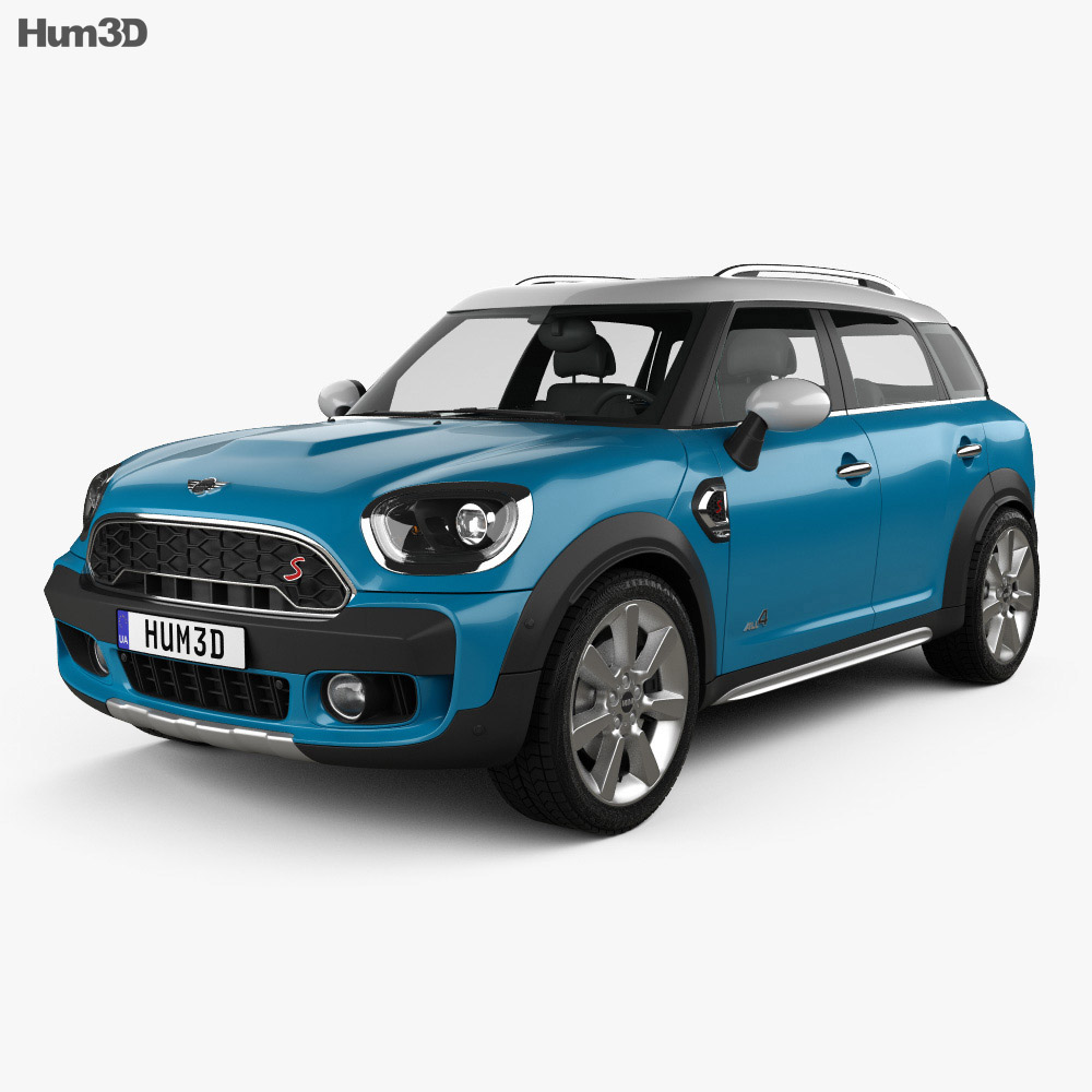mini cooper countryman s all4 2017 3d model hum3d. Black Bedroom Furniture Sets. Home Design Ideas