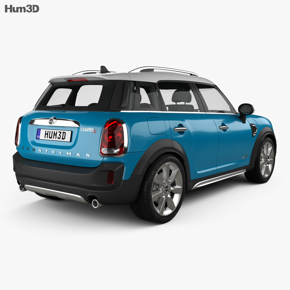 mini cooper countryman s all4 2017 3d model vehicles on. Black Bedroom Furniture Sets. Home Design Ideas