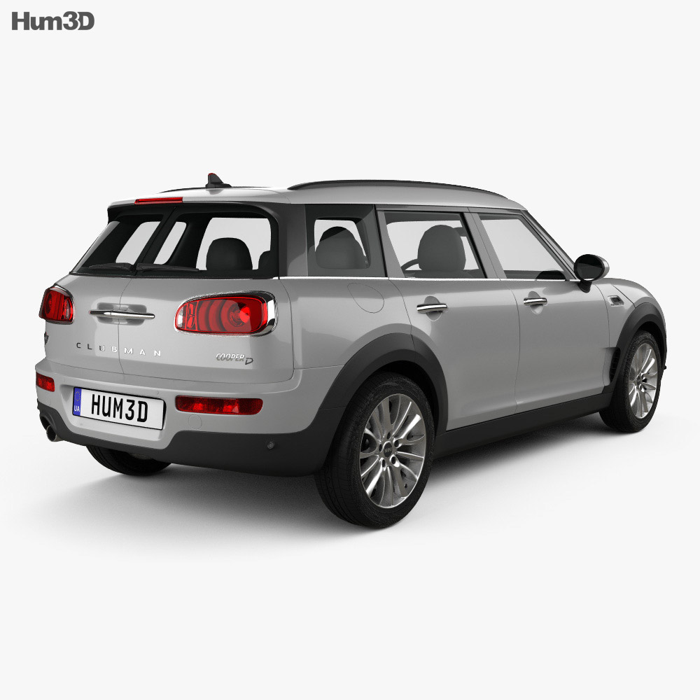 Mini Cooper Clubman D 2016 3D model - Vehicles on Hum3D