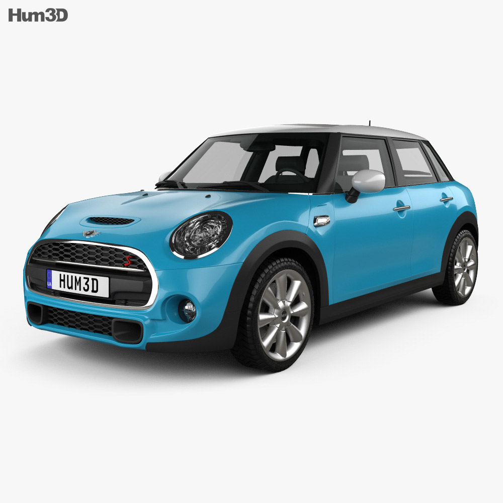 Mini Cooper S 5 Door 2014 3d Model Vehicles On Hum3d