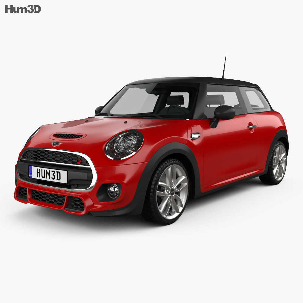 mini cooper s f56 hardtop 2015 3d model hum3d. Black Bedroom Furniture Sets. Home Design Ideas