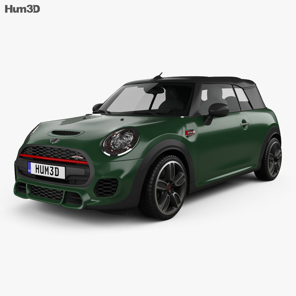 mini cooper john cooper works convertible 2016 3d model hum3d. Black Bedroom Furniture Sets. Home Design Ideas