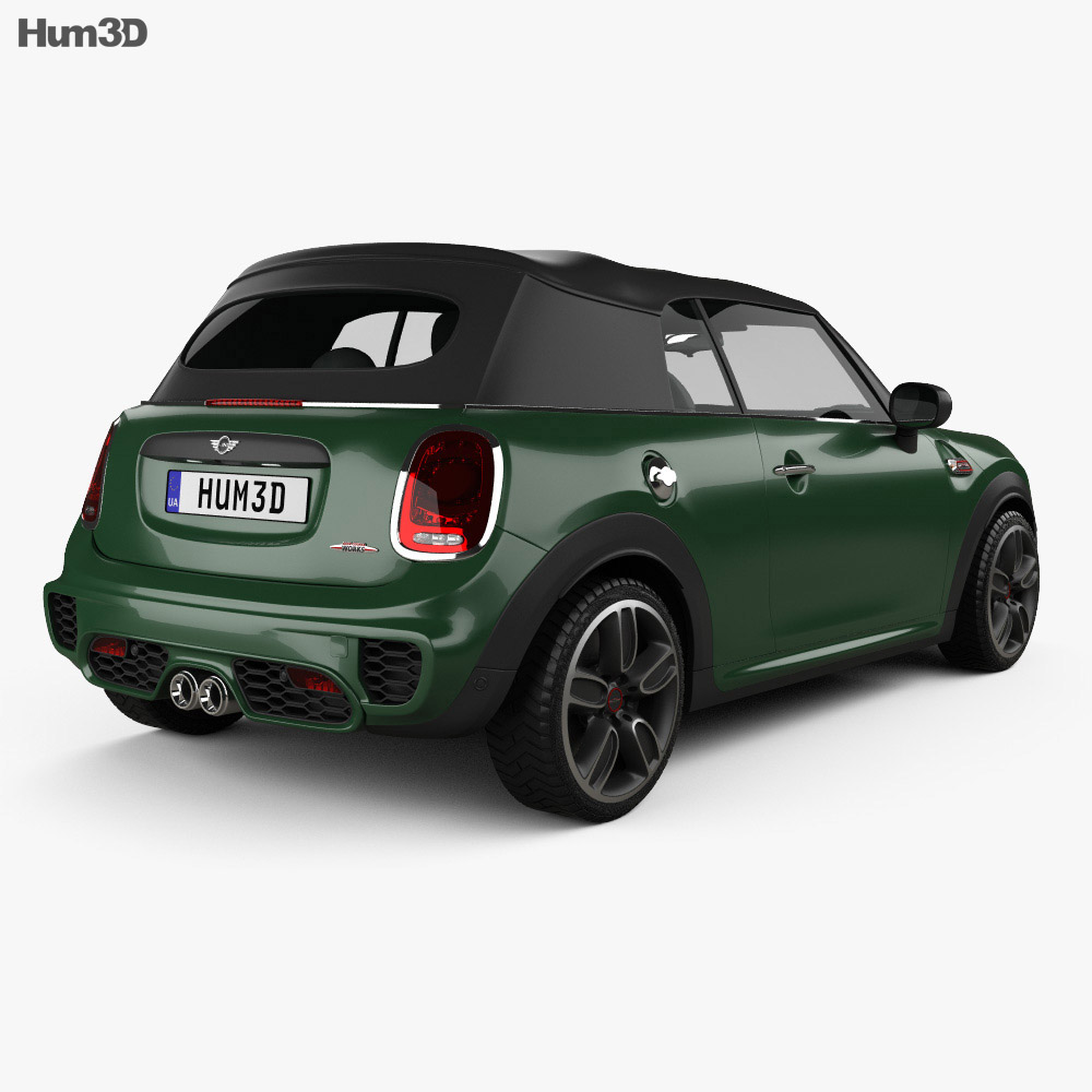 Mini Cooper John Cooper Works convertible 2016 3d model