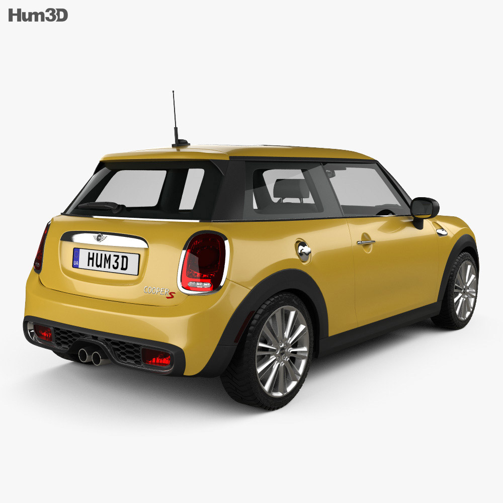 Rendering 2014 Mini Cooper Convertible: Mini Cooper S 2014 3D Model