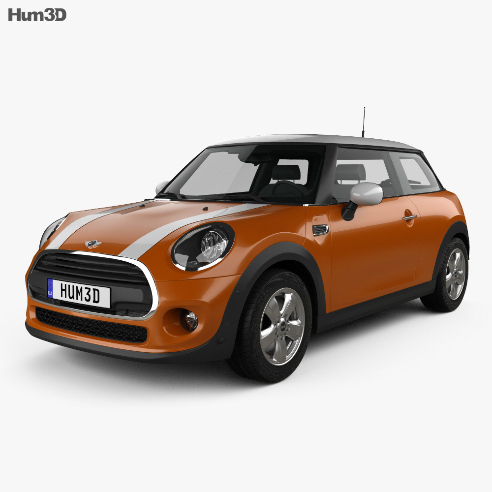 Mini Cooper Classic hatchback 3-door 2019 3d model
