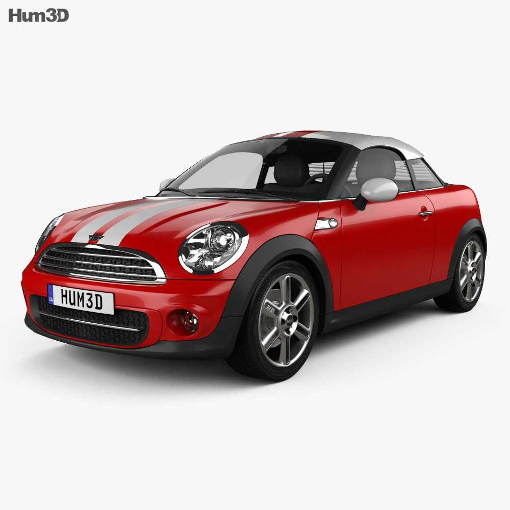 Mini Cooper Models >> Mini Cooper Coupe 2013 3d Model