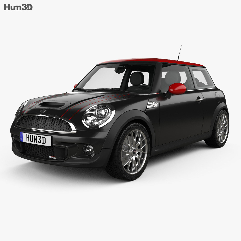 mini john cooper works hardtop with hq interior 2011 3d model vehicles on hum3d. Black Bedroom Furniture Sets. Home Design Ideas