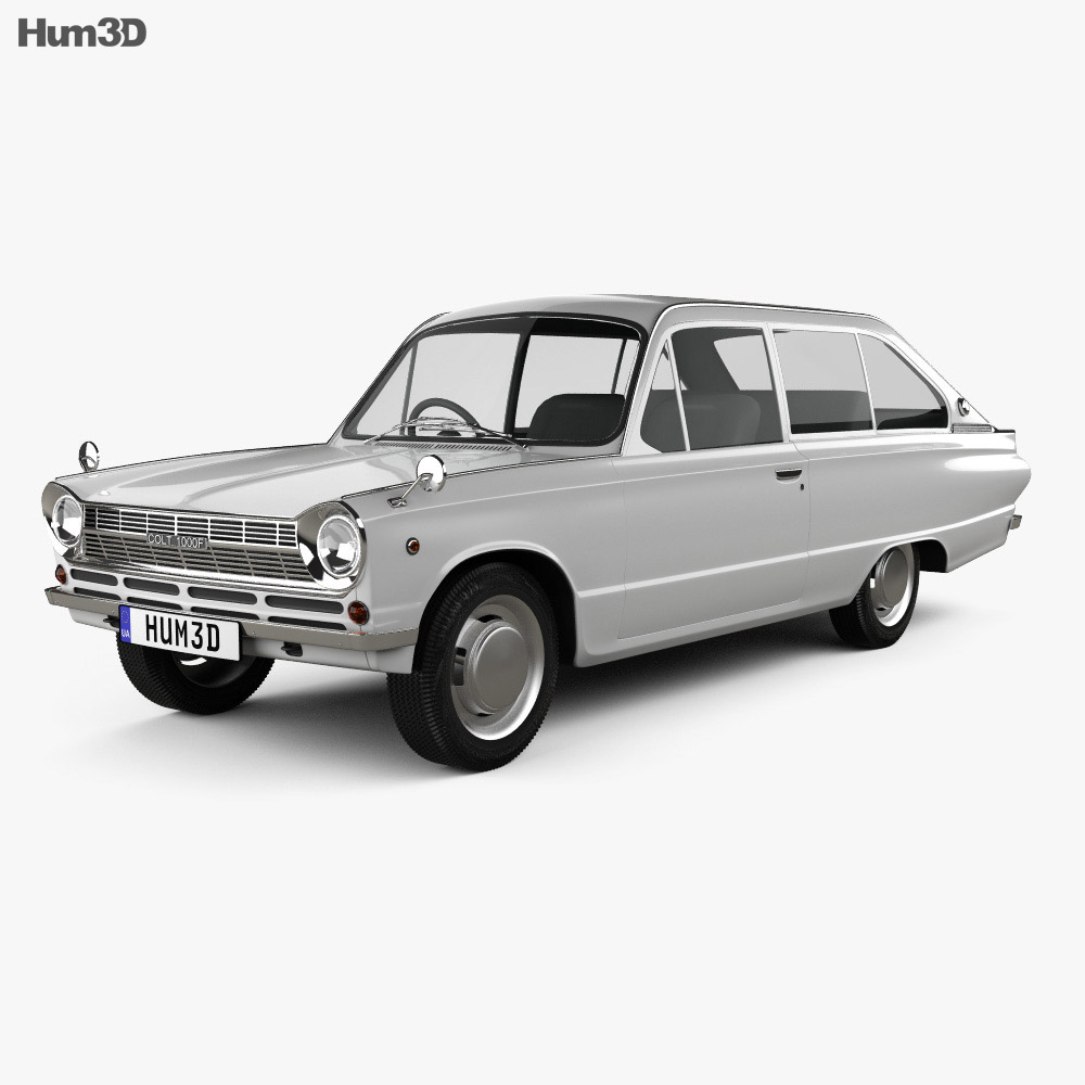 Mitsubishi Colt 1000F 3-door 1966 3d model