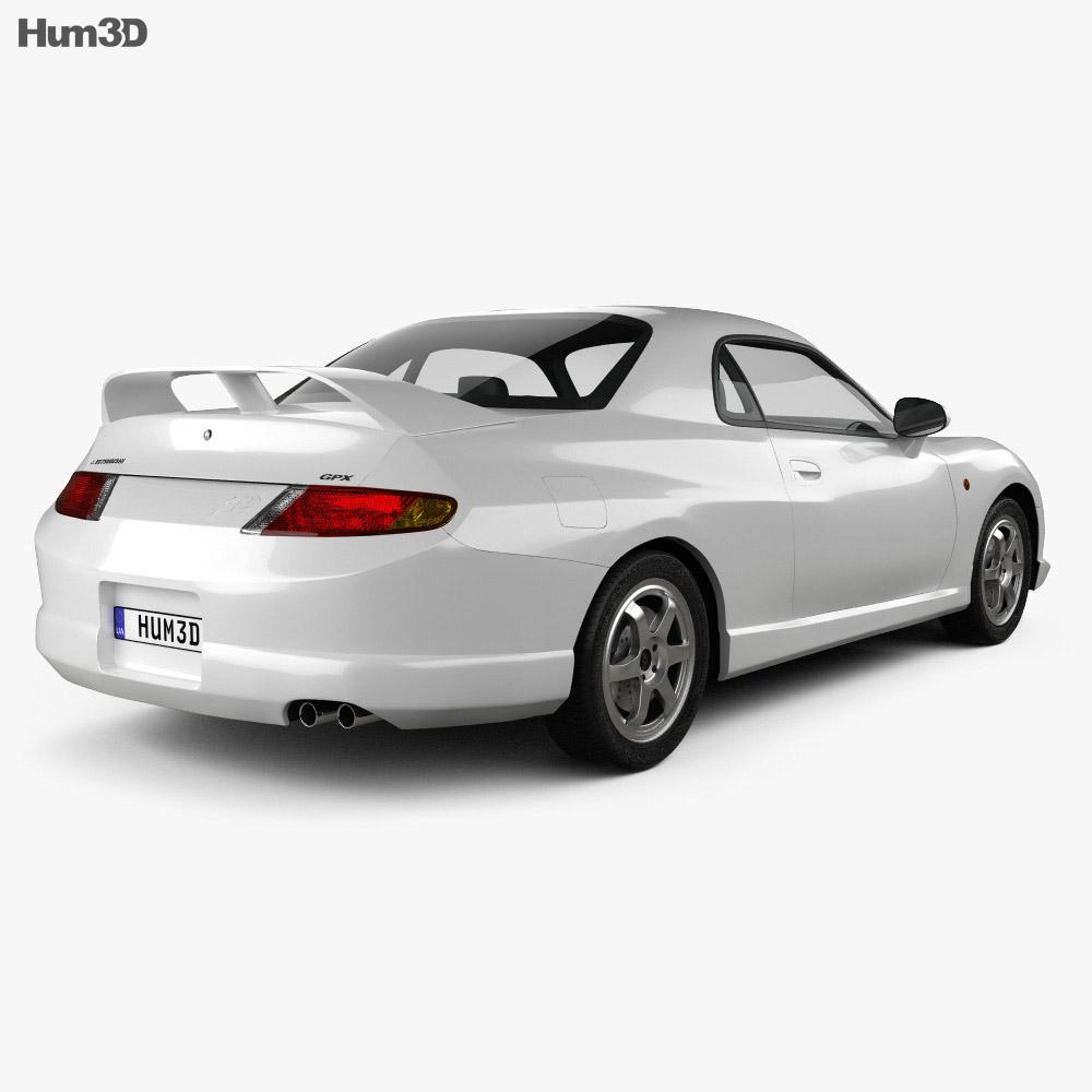 Mitsubishi FTO GPX Version R 1997 3d model back view