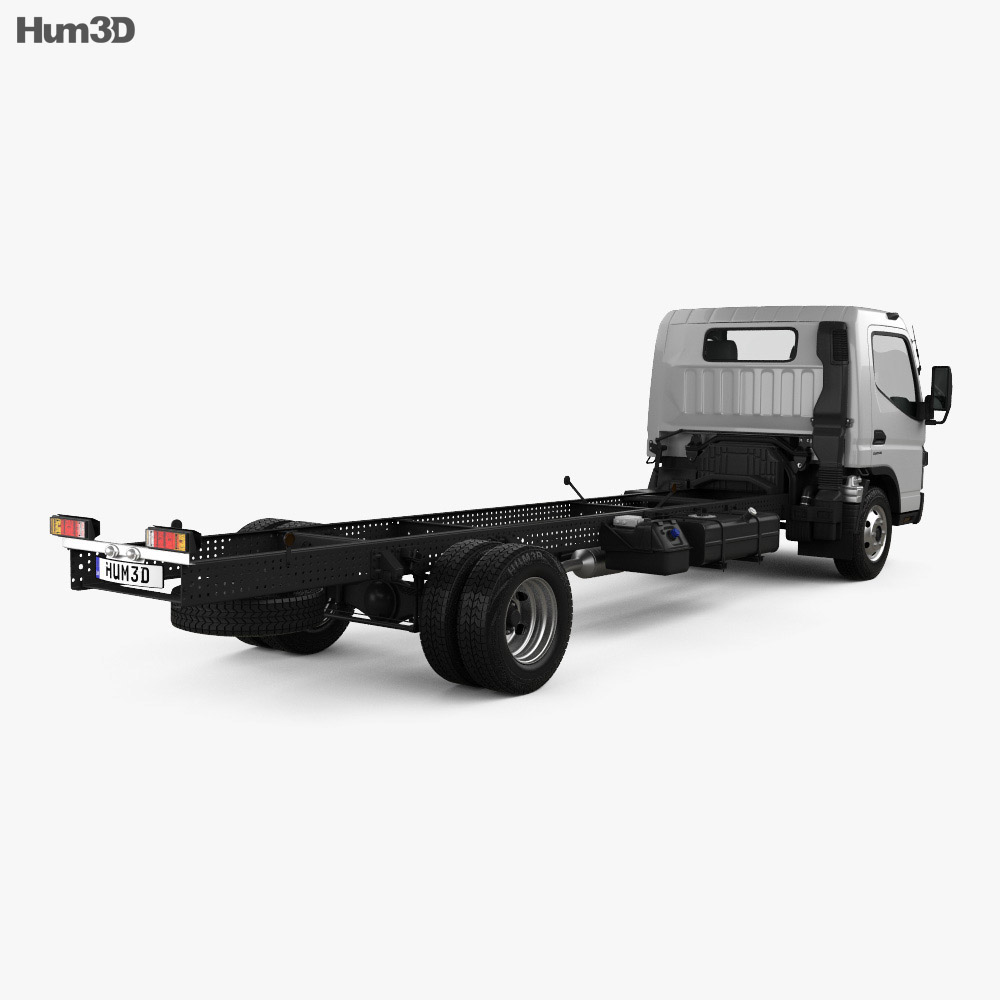 Mitsubishi Fuso Canter 918 Wide Single Cab Chassis Truck 2016 3d model