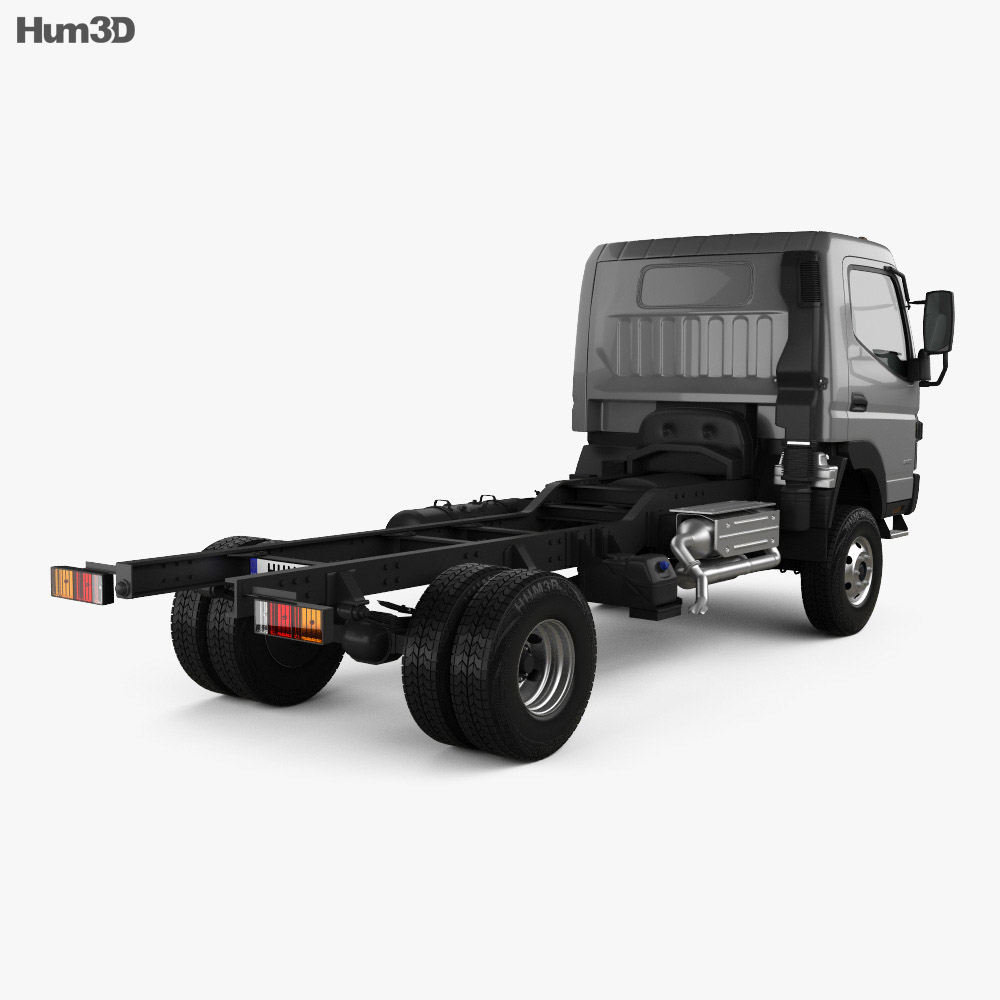 Mitsubishi Fuso Canter Chassis Truck 2013 3d model