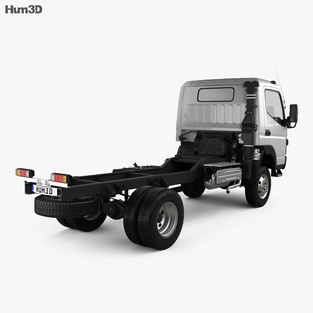 Mitsubishi Fuso Canter FG Wide Single Cab Chassis Truck 2016 3d model