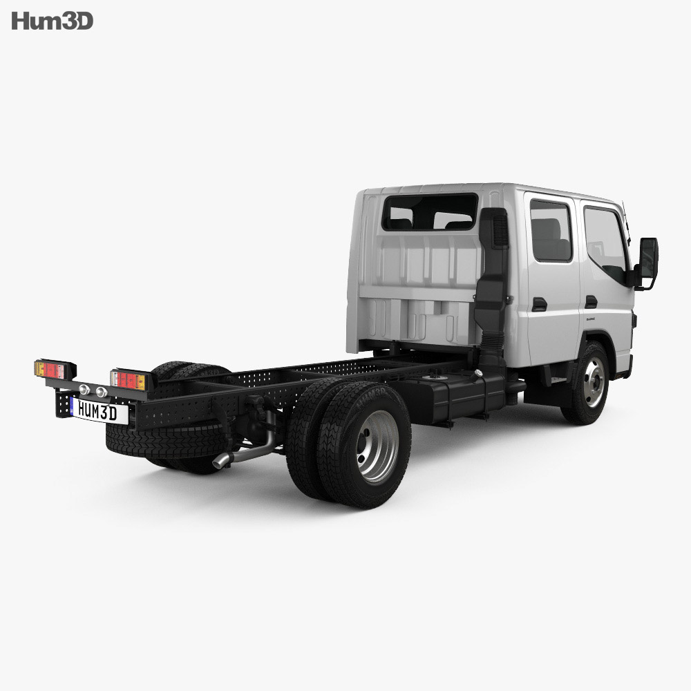 Mitsubishi Fuso Canter (515) City Crew Cab Chassis Truck 2016 3d model
