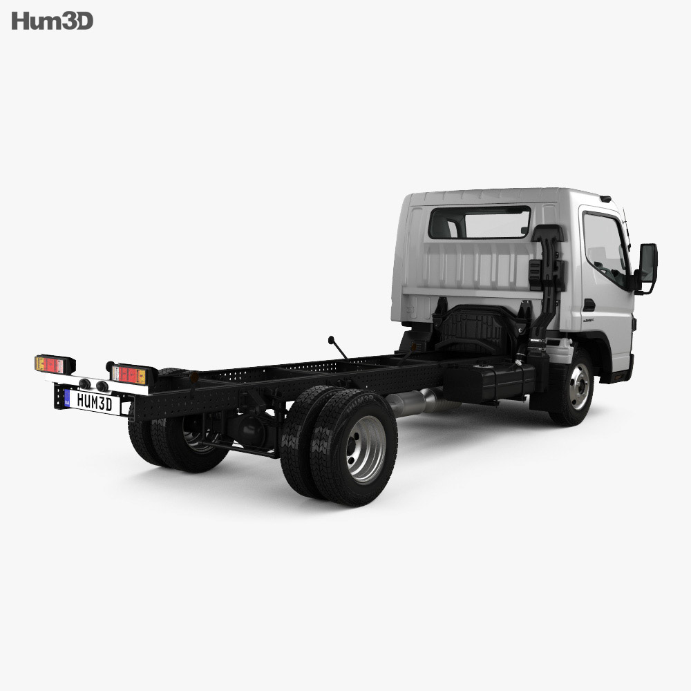Mitsubishi Fuso Canter (515) Wide Single Cab Chassis Truck with HQ interior 2016 3d model