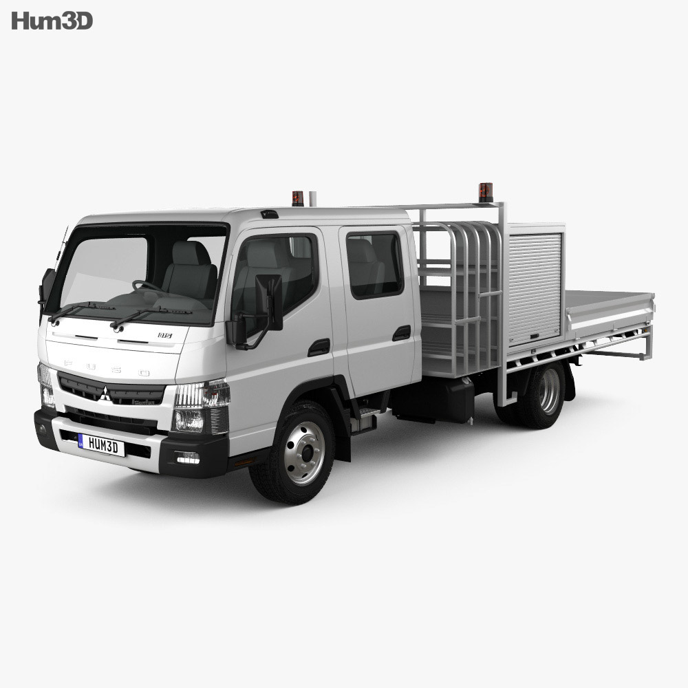 Mitsubishi Fuso Canter (815) Wide Crew Cab Service Truck 2016 3d model