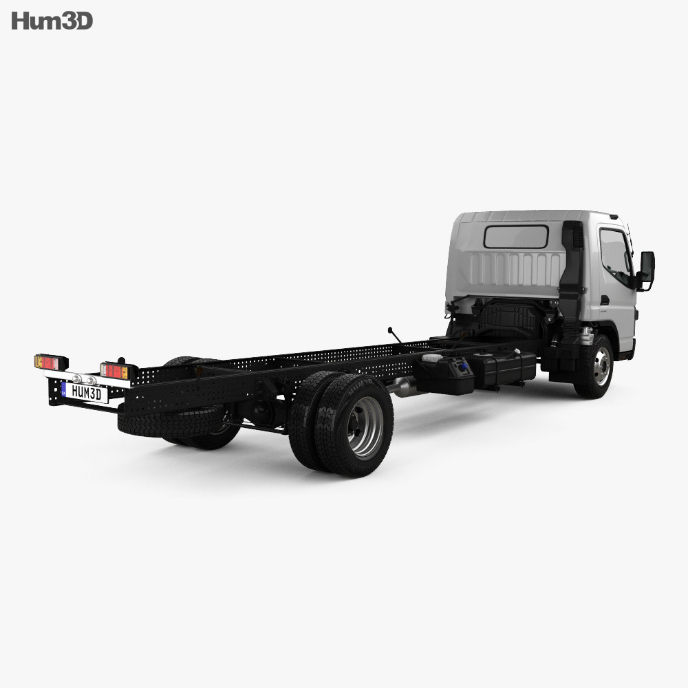 Mitsubishi Fuso Canter (918) Wide Single Cab Chassis Truck with HQ interior 2016 3d model