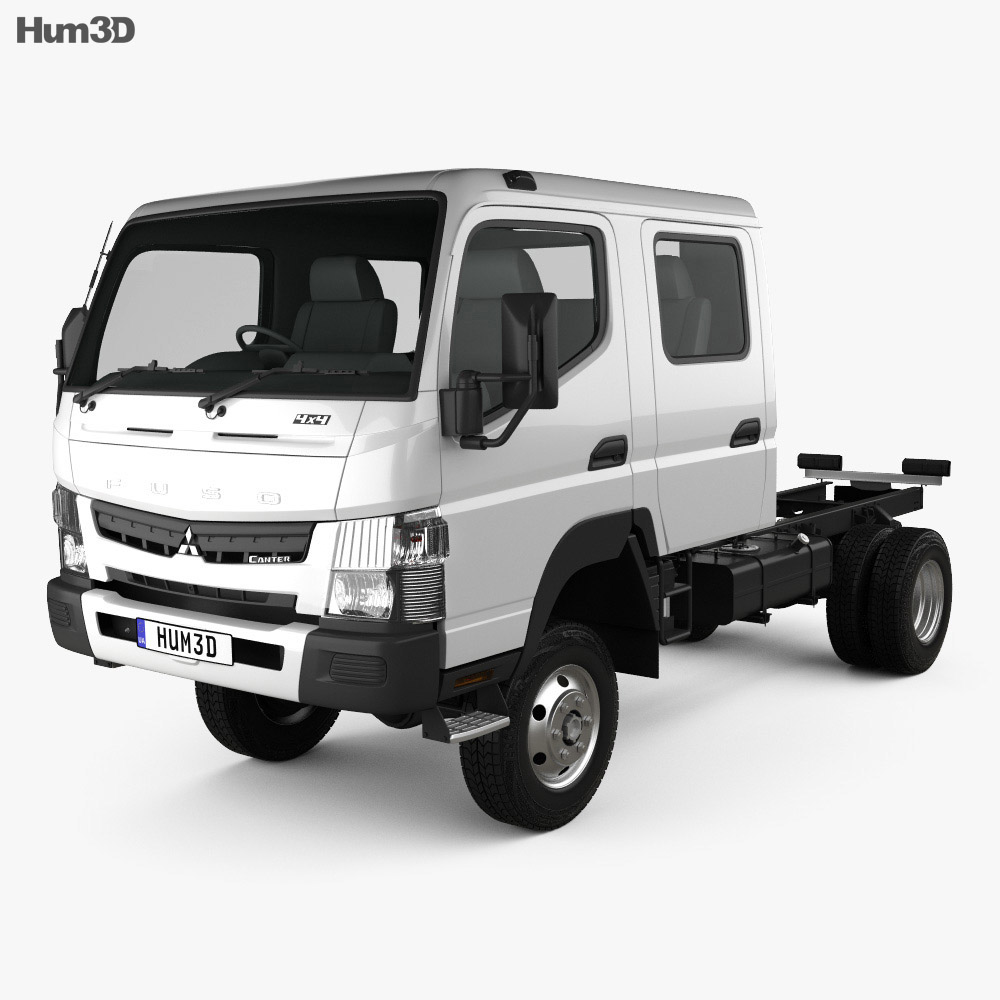Mitsubishi Fuso Canter (FG) Wide Crew Cab Chassis Truck 2016 3d model