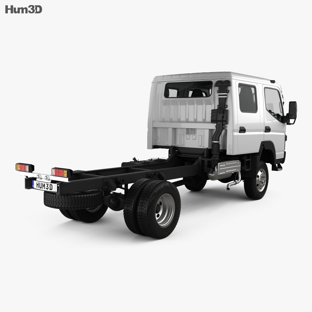 Mitsubishi Fuso Canter (FG) Wide Crew Cab Chassis Truck with HQ interior 2016 3d model
