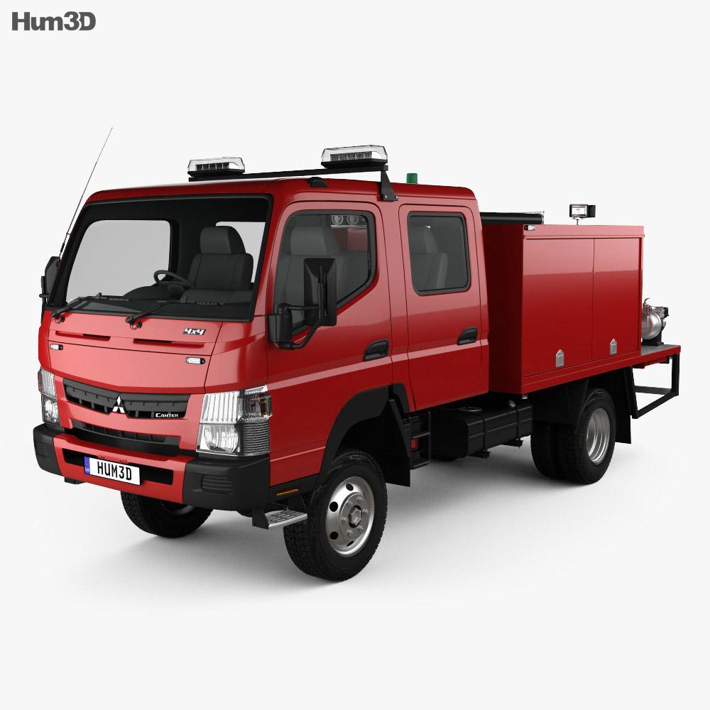 Mitsubishi Fuso Canter (FG) Wide Crew Cab Fire Truck 2016 3d model