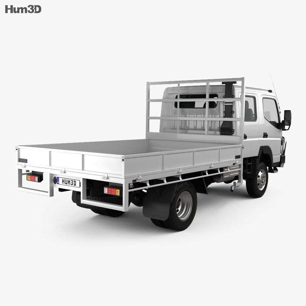 Mitsubishi Fuso Canter (FG) Wide Crew Cab Tray Truck 2016 3d model