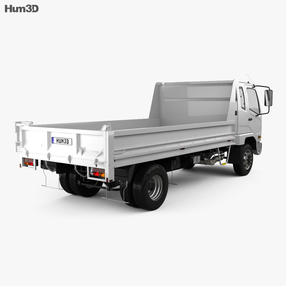 Mitsubishi Fuso Fighter Tipper Truck 2017 3d model