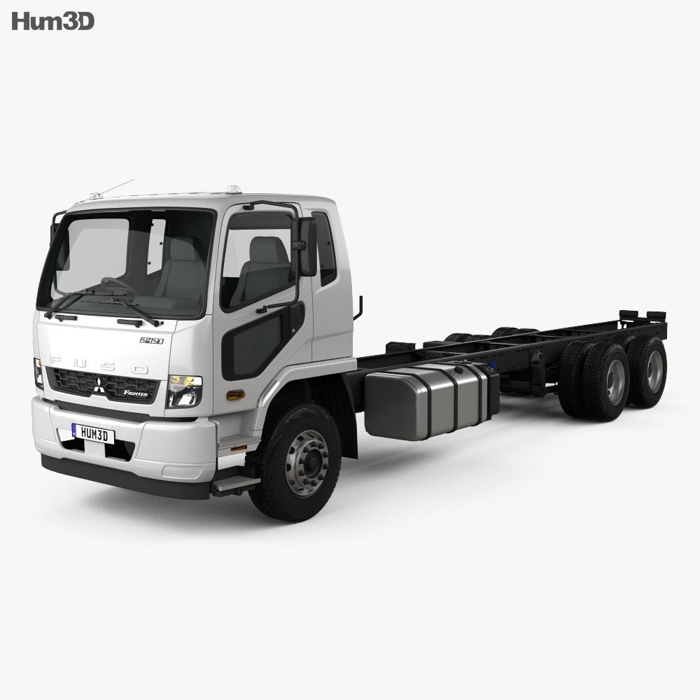 Mitsubishi Fuso Fighter (2427) Chassis Truck 2017 3d model