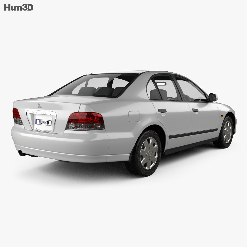Mitsubishi Galant sedan 1996 3d model back view